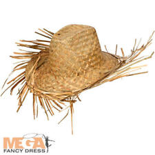 Hawaii Beachcomber Hat Mens Fancy Dress Straw National Adults Costume Accessory