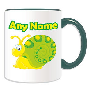 Personalised Gift Spot Snail Mug Money Box Cup Animal Sealife Design Cute Silly