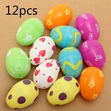 12Pcs Mix Plastic Empty Easter Eggs Hunt Gifts Home Decoration Kids Toys Cute