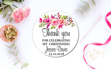 10 Gift Tags Baptism Christening Confirmation Bomboniere Personalised Candle v4
