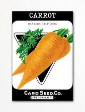 Carrot Seed Packet Artwork Fridge Magnet