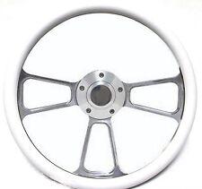 """New World Motoring Kubota, Tomberlin Golf Cart 14"""" White Steering Wheel Inclu..."""