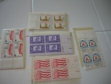 US Stamps - 1960 GIRL SCOUTS BOY SCOUTS CAMPFIRE BOYS CLUB 4-BLOCKS MINT