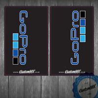 GoPro Black Upper Fork Graphics - Motocross Enduro Supermoto Stickers Decals