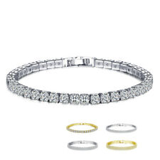 Gold/Silver Single/Double/Three Row Zircon Crystal Bracelet Wedding Jewelry Gift