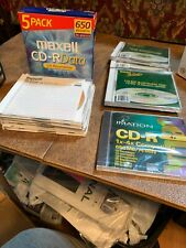 Maxell, Imation, Generic CD-R Media With Jewel Cases, 650MB/74 Minutes Lot Of 11