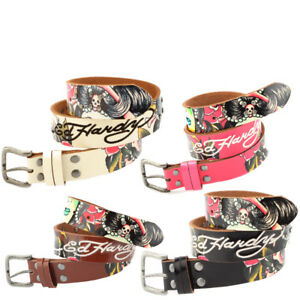 Ed Hardy EH3111K Geisha Stones Girls-Leather Belt