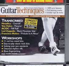 METALLICA / VAN HALEN / AC/DC CD GUITAR TECHNIQUES 70 2002