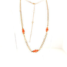 Vintage Pink Coral Necklace Chain Choker