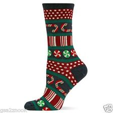 Peppermint Stripes & Dots Crew Socks Denim NEW Women Hosiery Size 9-11 HOTSOX
