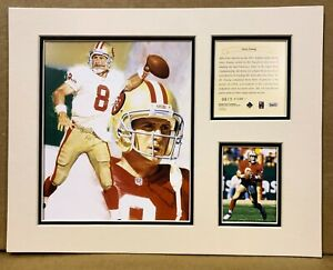 San Francisco 49ers Steve Young 1995 Football 11x14 MATTED Kelly Russell Print