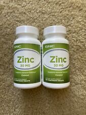 2 bottles of GNC Zinc 30mg 100 Vegetarian Tablets