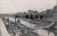 Panoramique Vue De Allemand Soldats sur Le Crozat Canal St Quentin Somme France