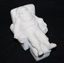 Midwest of Cannon Falls Christmas Holiday Santa Marble Sample Piece Mold White
