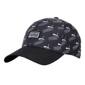 PUMA Adults Academy Black Printed Cap Original Adjustable Hat 022829 04