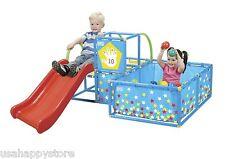 Kids Outdoor Toys 3 In 1 Gym Set Slide Ball Pit Portable Playground Backyard Fun