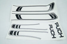 Puch Maxi S N Tank Frame Sticker Set 2 Piece Black Moped New