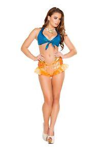 sexy ROMA little MERMAID princess ARIEL high waist SHORTS goldfish PARTY costume