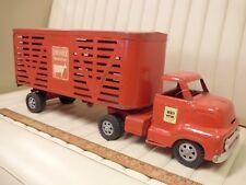 1950s BUCKEYE Livestock Cattle Transport Truck Pressed Steel Toy