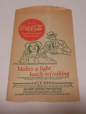 """Vintage Coca Cola 1944 Dry Server """"Makes a light lunch refreshing"""" #23"""