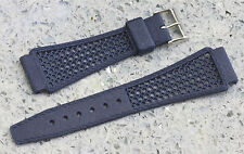 Blue 18mm Tropic band type nylon Golay Swiss vintage item NOS 1960s/70s 5 sold
