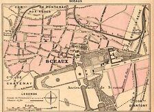 92 SCEAUX PLAN DE LA VILLE MAP IMAGE 1902