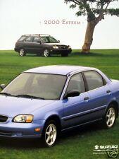 2000 Suzuki Esteem sedan/wagon new vehicle brochure