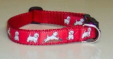 WESTIE COLLAR RED PLAYFUL  FREE SHIP USA