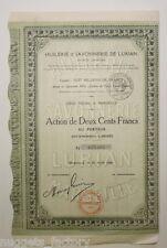 Action ancienne : Huilerie et savonnerie de Lurian ( 488 )