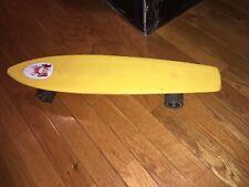 Vintage Yellow 1970's Sport Fun Supergrip Scamp Skateboard Shark