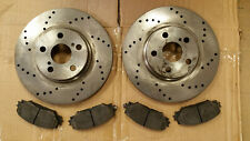 USED 31505 (FRONT 2 pcs) Drilled Brake Disc Rotor & FREE Brake Pad #73