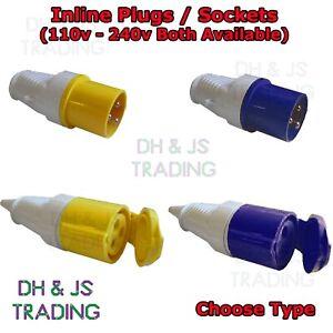 110V - 240V 3 Pin Industrial Site Plug & Sockets Male/Female AMP (16A - 32A)