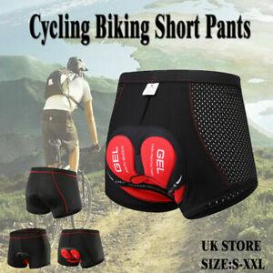UK Men Women 5D Gel Padded Bicycle Cycling Bike Shorts Underwear Pants Gifts YE
