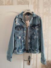 Pepe Pinner Mens Distressed/ Savaged Denim Jacket Size L New