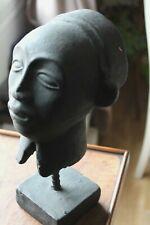 BUSTE FEMME AFRICAINE SCULPTURE terre cuite AFRIQUE AFRICANA AFRIKANISCHE MASQUE