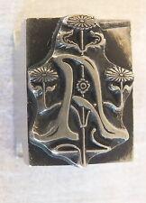 tampon imprimerie Deberny Paris art nouveau lettre A fleurs sceau seal