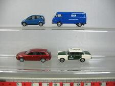 AB280-0,5# 4x Busch/Starmada H0 Modelle: Audi A6, MB A-Klasse+Polizei+SU, TOP