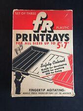 Vintage FR Plastic Printrays Black White & Red FR Corporation New York