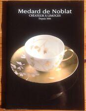catalogue Medard de Noblat Porcelaine Limoges