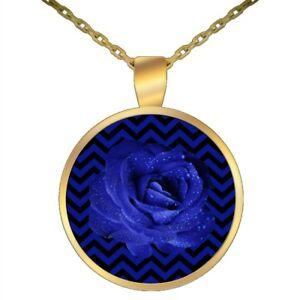 Twin Peaks Jewelry Fan Gift Pendant Blue Rose Black Lodge Floor Chevron Pattern