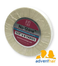 """No Shine Hair Extension Tape Roll 1/3"""" x 6 yds WALKER lace wig wefts"""