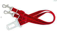 Red & Various  dog puppy twin double chihuahua  safety car seat belt  2 dogs
