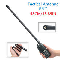 ABBREE 48cm BNC Foldable CS Tactical Antenna For ICOM Kenwood Two Way Radio