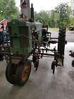 Vintage Tractor John Deere Model 40 With Cultivators & orig. front end loader