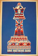 Dave Matthews Band Poster England London Queen Chess Piece #/400 Rare!