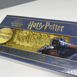 24k GOLD TICKET Harry Potter Hogwarts Express Zavvi LIMITED & Numbered / 2,000