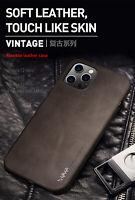 X-Level Kunstleder Ultra Dünn Back Case Cover Schutzhülle f iPhone 12 11 Pro Max
