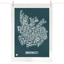 Sydney Inner West Australia Tea Towel Australian Souvenir 100% Linen Map Gift