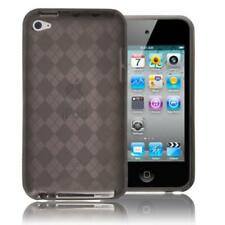 Smoke TPU Diamond Pattern Skin Case Cover For Apple iPod Touch 4 4th 4G Gen