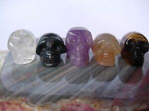 crystal skull set of five  JS3   (U.K. seller since 2003)
